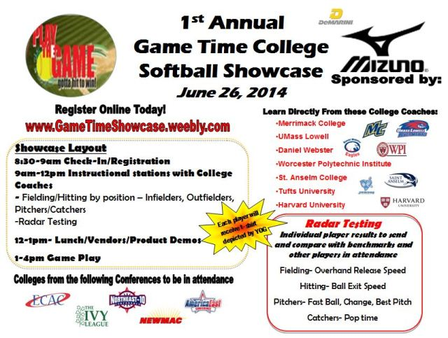 Game Time Showcase Flyer