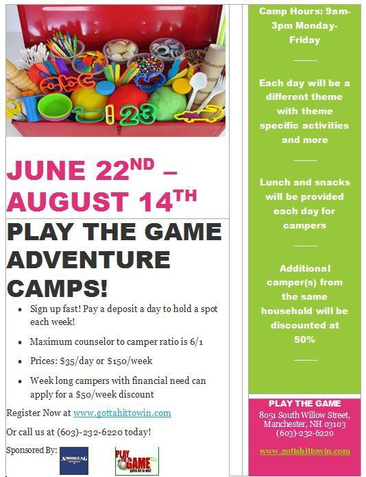 PTG Summer Camps 2015 Flyer1